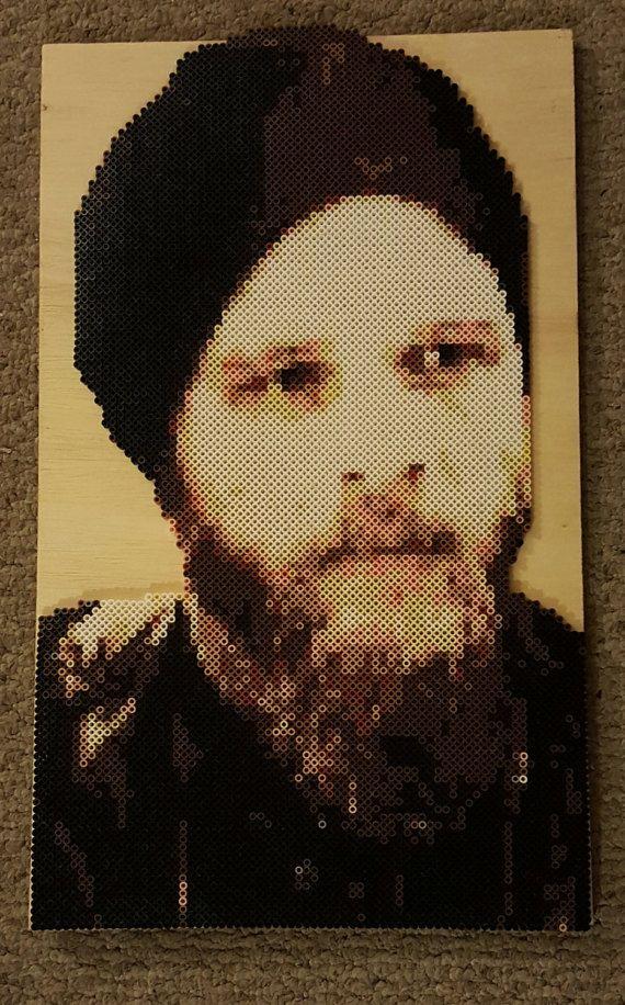 Portrait Opie Winston fait main Sons Of Anarchy OPIE (7 051) fabriqué à partir de perler beads