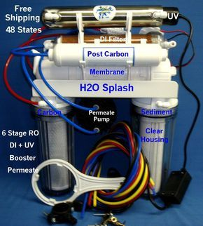 Reverse Osmosis 6 Stage 24/35/50Gpdro/Uv/ Di/Booster/Permeate Pump Water Filter