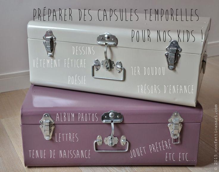 """To do : Préparer de jolies """"capsules temporelles"""" à offrir à mes kids dans (au moins) 25 ans !"""