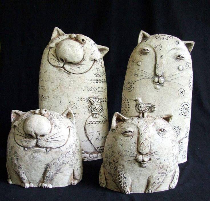 Love my cats whimsy ceramics pinterest katter