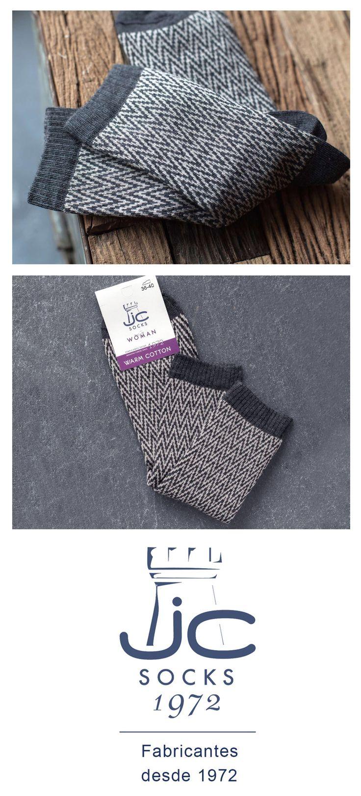 Calcetines mujer invierno estilo vintage color gris. Fabricantes de calcetines desde 1972