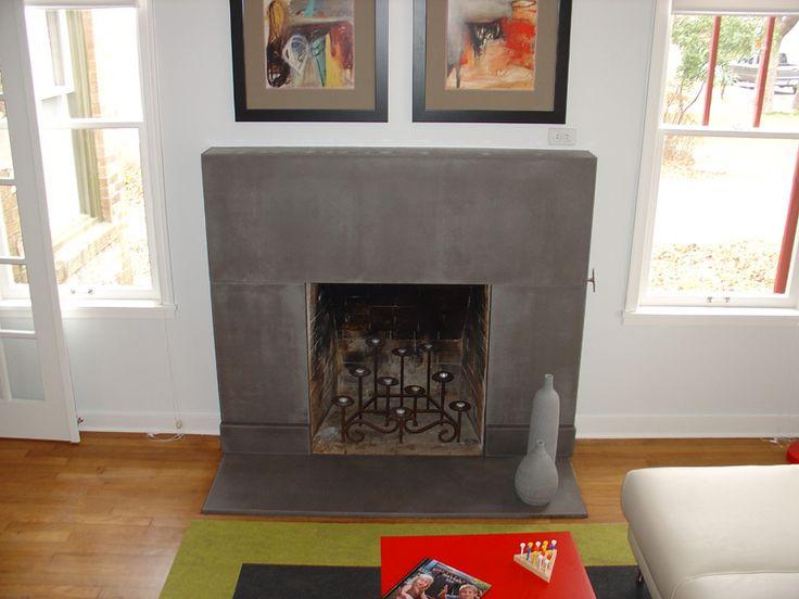 Cement Fireplace Surround Fireplace Wall Pinterest