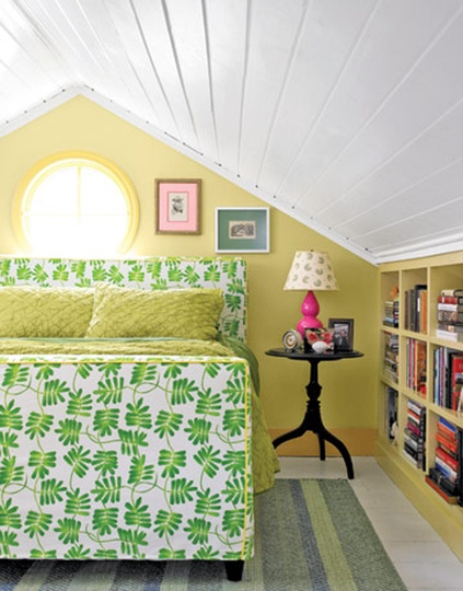 Built-in book case. I want to do this in my attic room, only build in drawers and shoe spaces rather than a book case!