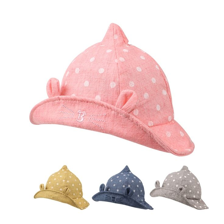 Dots Cat Baby Hat Cute Cotton Toddler Hat For Boys Catoon Baby Sun Cap With Ears Spring Summer Fashion Caps Baby Girls Clothing. Yesterday's price: US $8.56 (6.97 EUR). Today's price: US $5.31 (4.31 EUR). Discount: 38%.