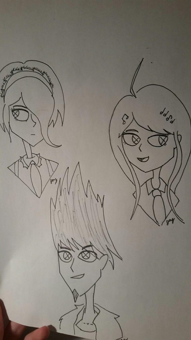 Kirumi Tojo, Kaito Momota, Keade Akamatsu ((I should probably stop drawing v3 characters and sleep but nah))