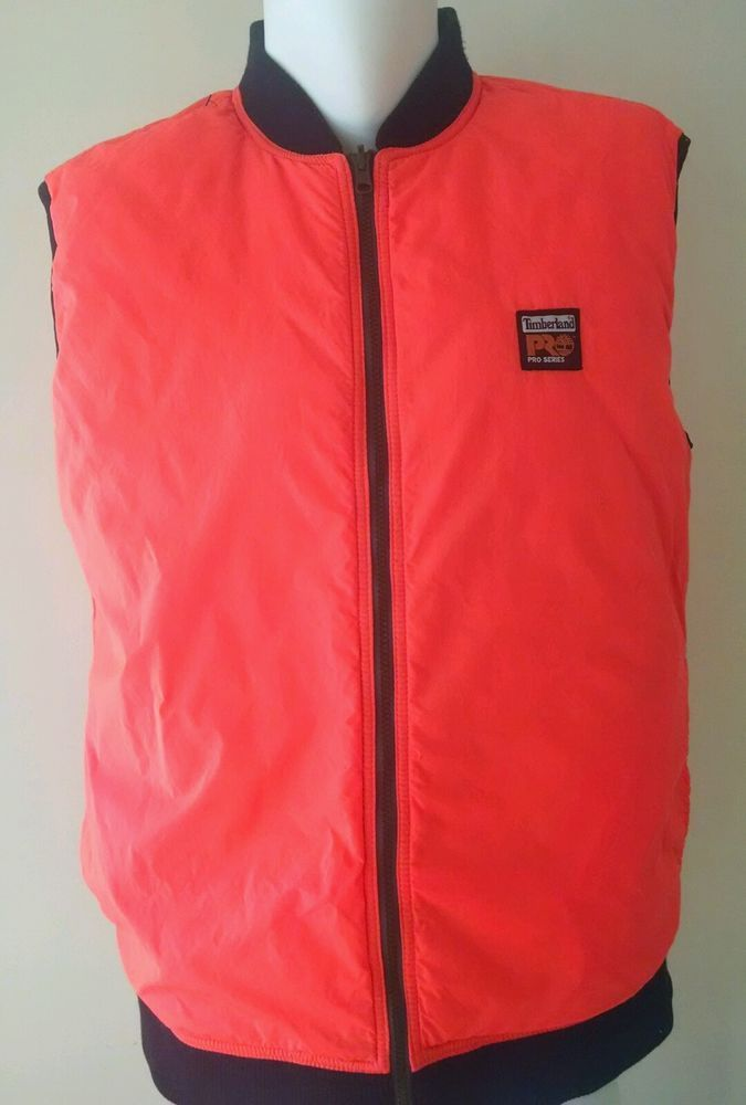 Timberland Pro Series Vest Quilted Reversible Orange/Black  #Timberland
