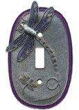 Dragonfly Single Purple Switch plate