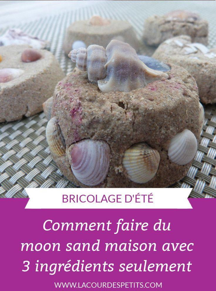 Recette Du Moon Sand Le Sable A Modeler Fait Maison La Cour Des Petits Sable A Modeler Fait Maison Recette Pate A Modeler