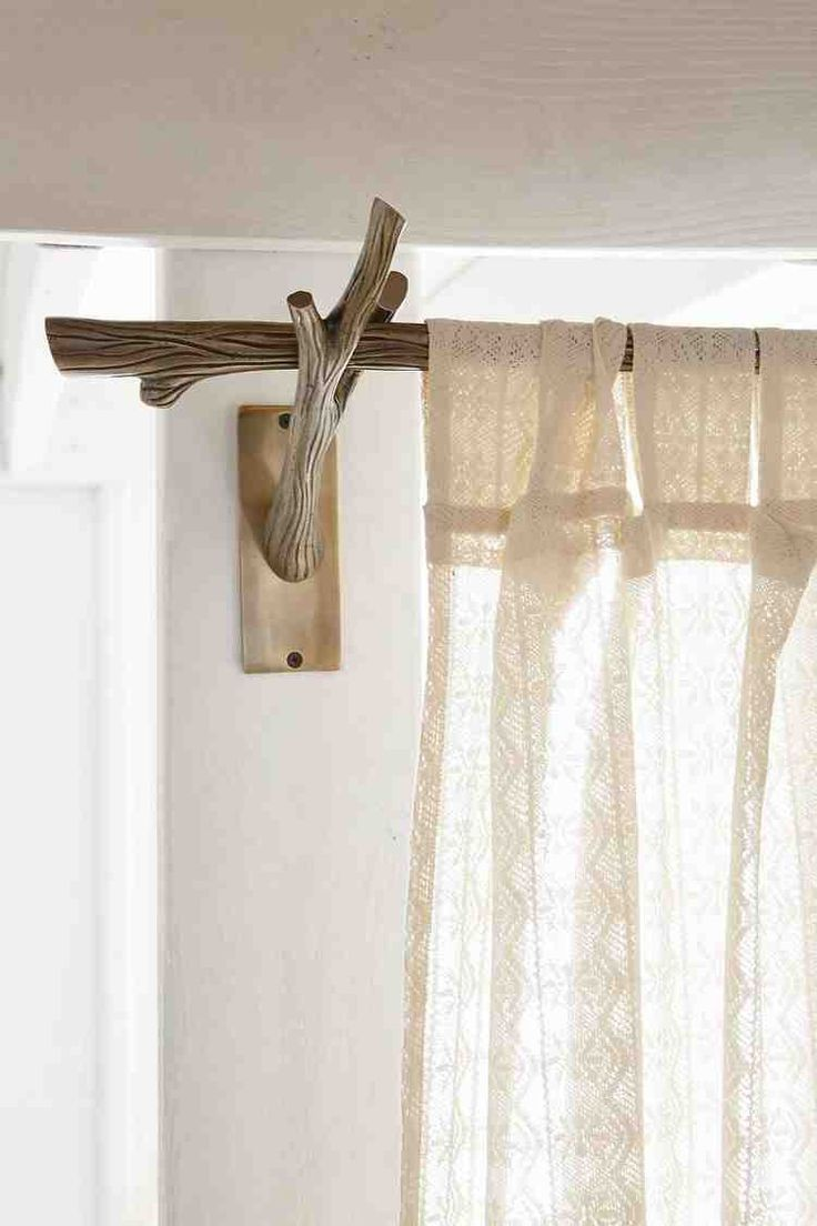 Mini curtain rods - Log Tree Branch Curtain Rod