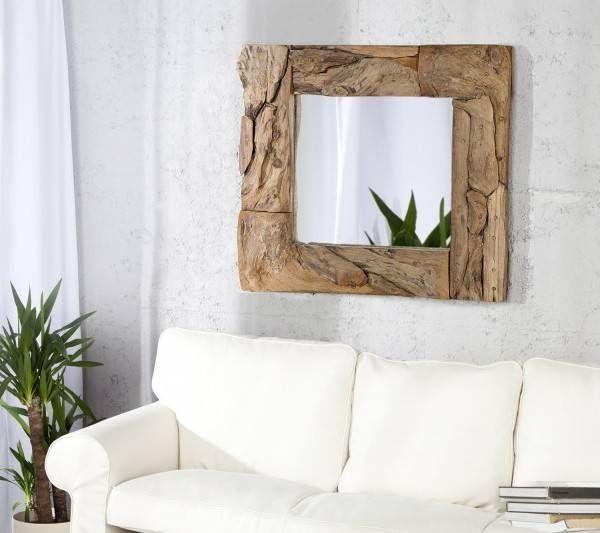 Nástenné zrkadlo Sands 50cm naplavené drevo