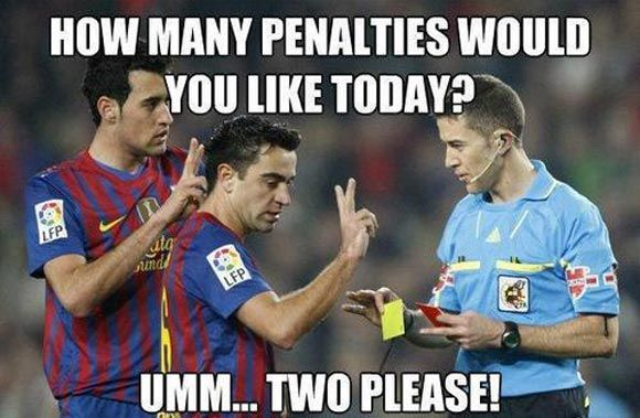 How many penalties would you like today... #soccer #memes