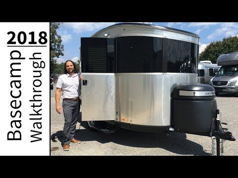 Walk Through 2018 Airstream Basecamp 16NB Light Weight Small Camping Adventure Trailer - YouTube
