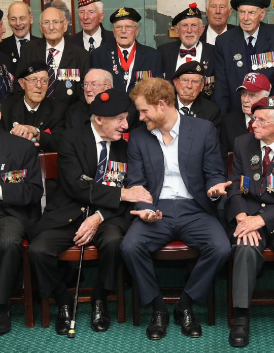 Prince Harry attends a reception for Normandy Veterans at Southwick House on June 2, 2016 in Portsmouth, England.
