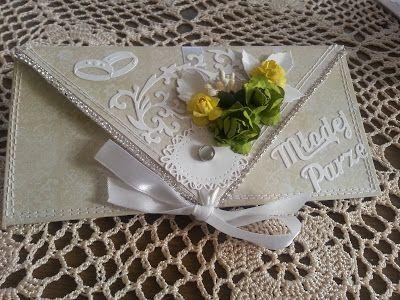 Papierowo zakręcona    : Kopertówka ślubna