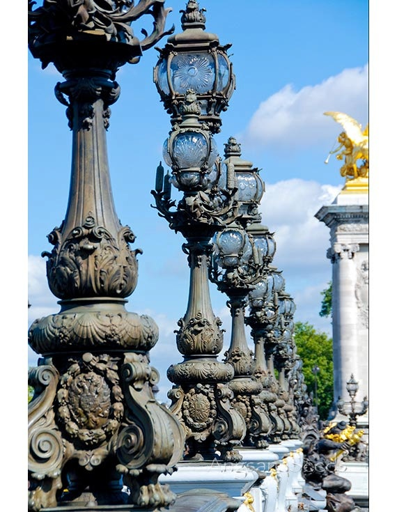 Paris Street Lamp 8x12 Photo French architecture