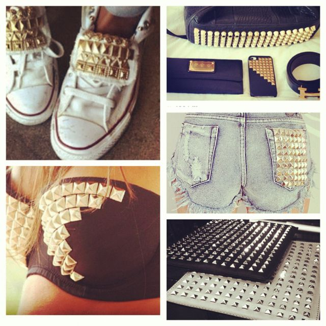 Studded converse, and bandeau top studded like this