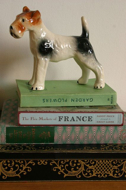 Vintage Fox Terrier - A sweet little chap to having looking over you during the night