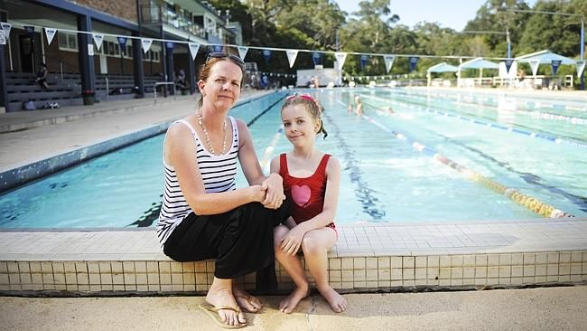 Katie Huntsdale with daughter Maya, who does Learn to Swim at Dence Park