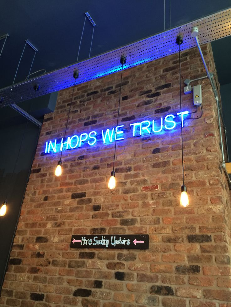 Cool neon sign at Brewdog bar, Manchester   Neon signs