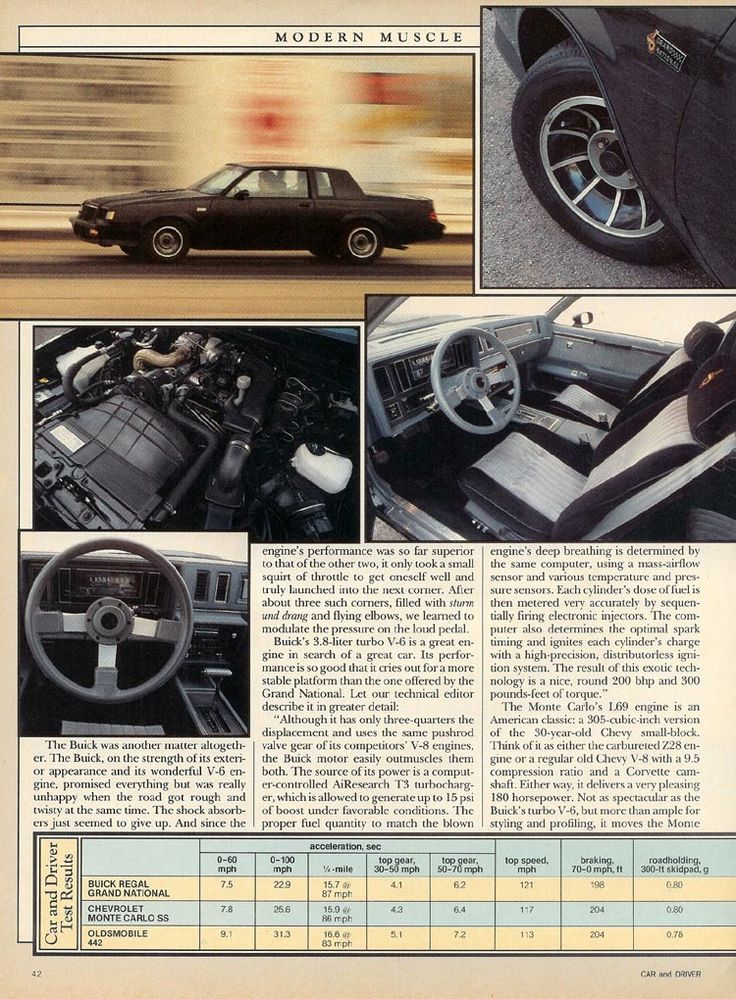 1985 Buick Regal Grand National vs Chevrolet Monte Carlo SS vs Oldsmobile 442 Article