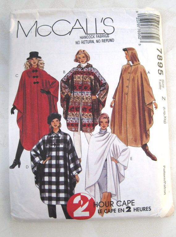 25 best cloaks images on Pinterest | Capes, Mantles and Sew pattern
