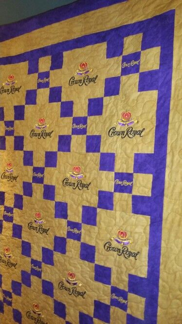 Queen size Crown Royal quilt. My son loved it.