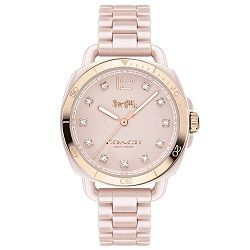Relógio Coach Feminino Cerâmica Rosa -14502754