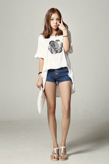 #korean fashion #long t-shirt