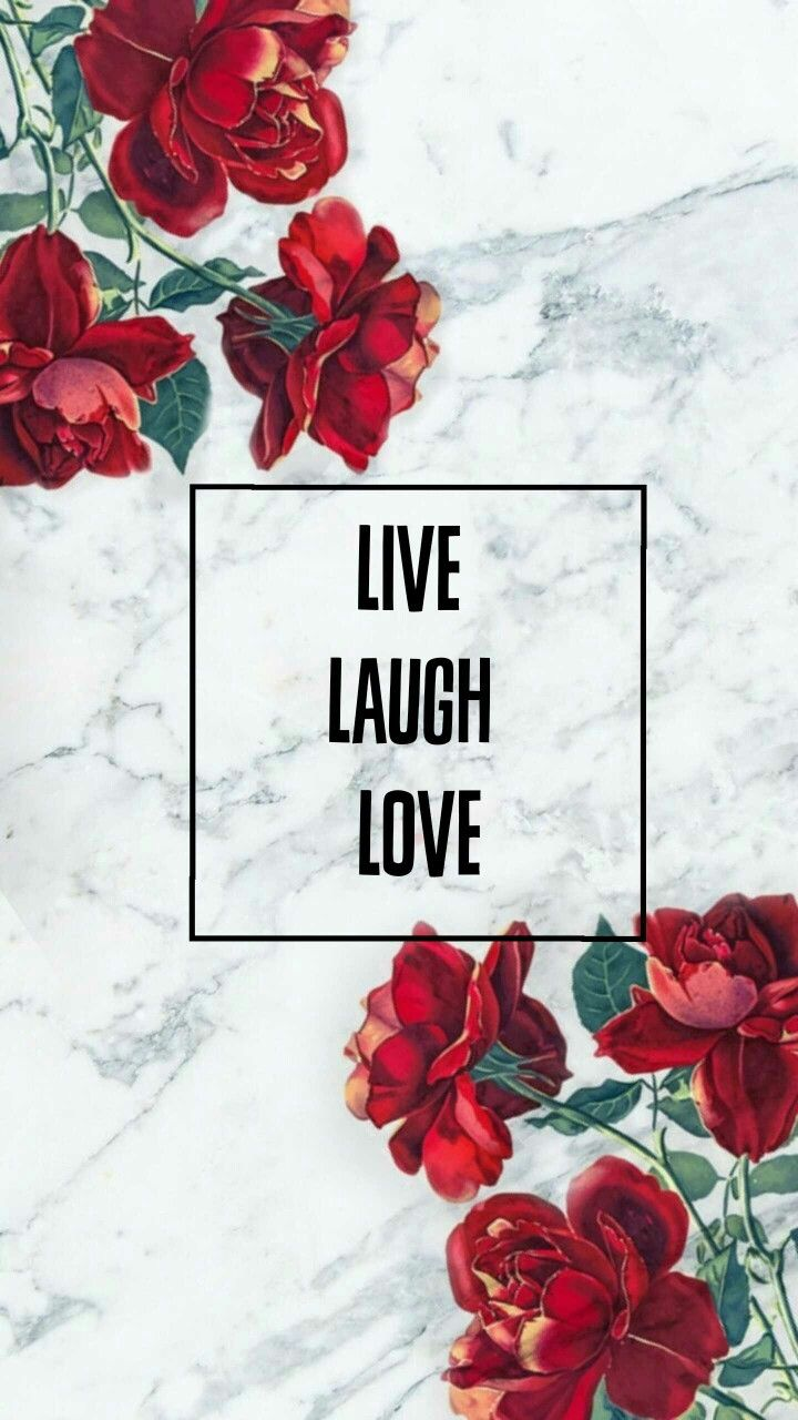 Wallpaper, Red, Live Laugh Love.