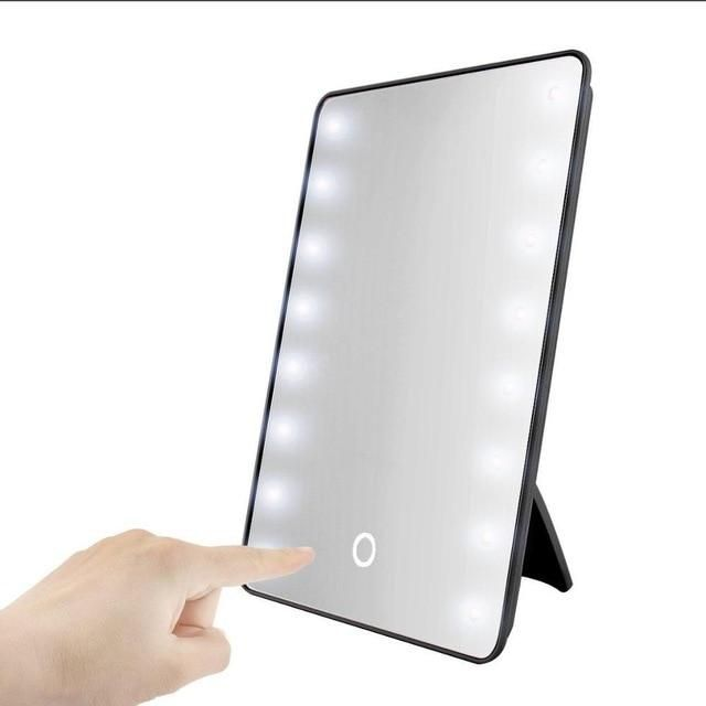 Portable Makeup Cosmetic Mirror With 16 Leds With Touch Dimmer Switch With Images Makeup Mirror Cosmetic Mirror Led Makeup Mirror