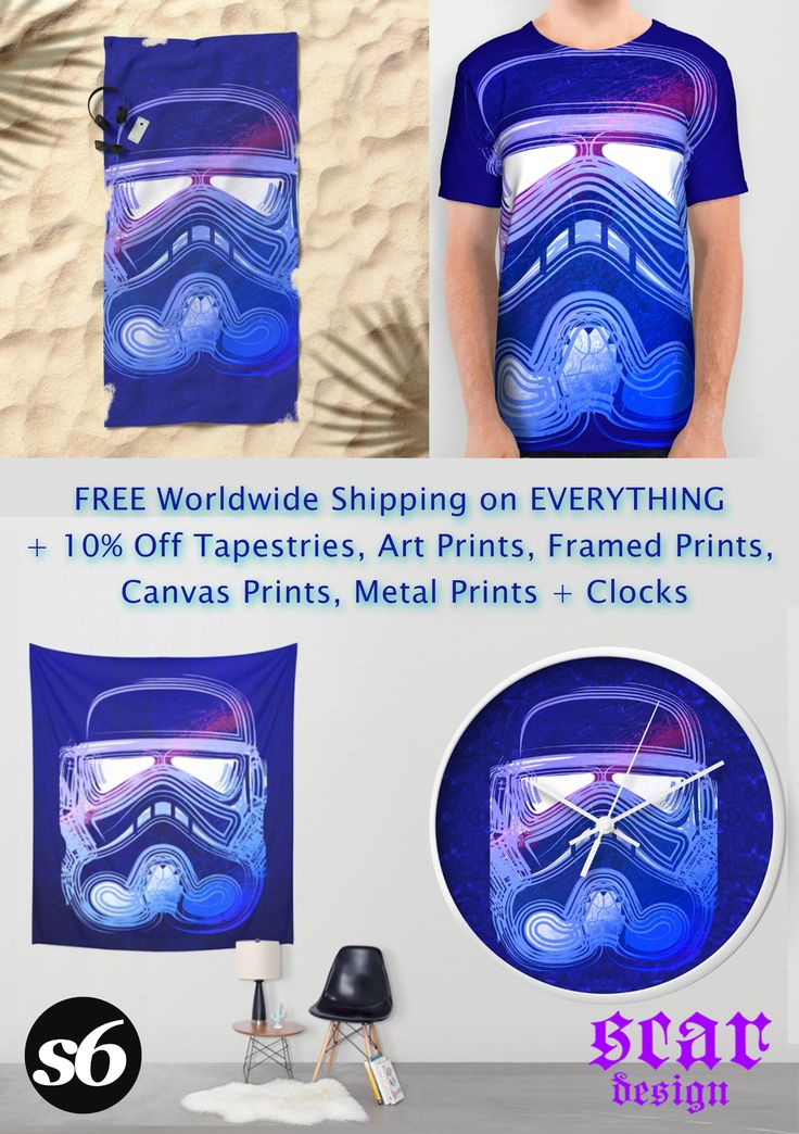 FREE Worldwide Shipping on EVERYTHING + 10% Off Tapestries, Art Prints, Framed Prints, Canvas Prints, Metal Prints + Clocks!!!!  Promotion expires August 7, 2016  Storm Trooper Beach Towel, T-Shirt,  Wall Tapestry Clock  and many other products!!! #freeshipping #stormtrooper #starwars #sales #summer #society6 #buytshirts #stormtroopertshirt #summersales #gifts #summergifts #kids #kidsroom #buygifts #beachtowels #tshirts #walltapestry #wallclock #homedecor #home #homegifts