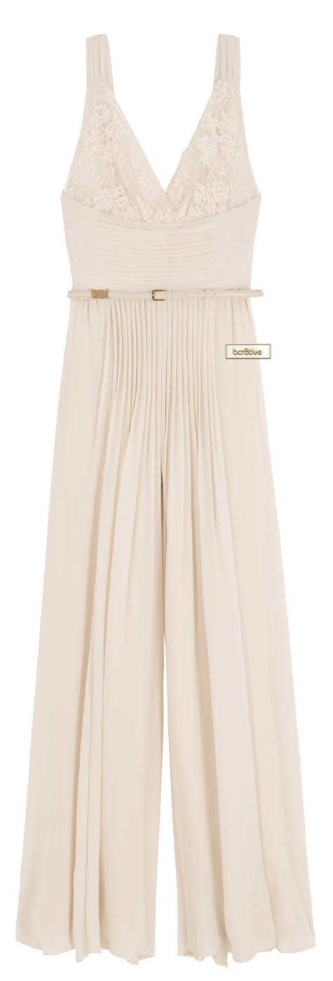 Elie Saab Lace Top Jumpsuit has the elegance of an evening gown but with a surprising and sophisticated palazzo style pant bottom. (I knew jumpsuits would come back!) ツ