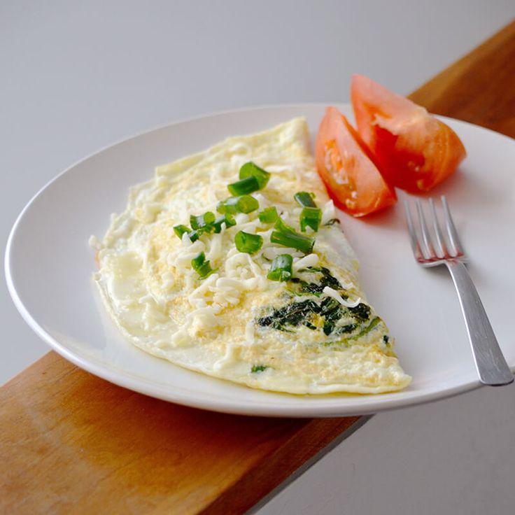 Prepara un rico Omelet de Espinacas. #receta #omelet #diy #cocinar