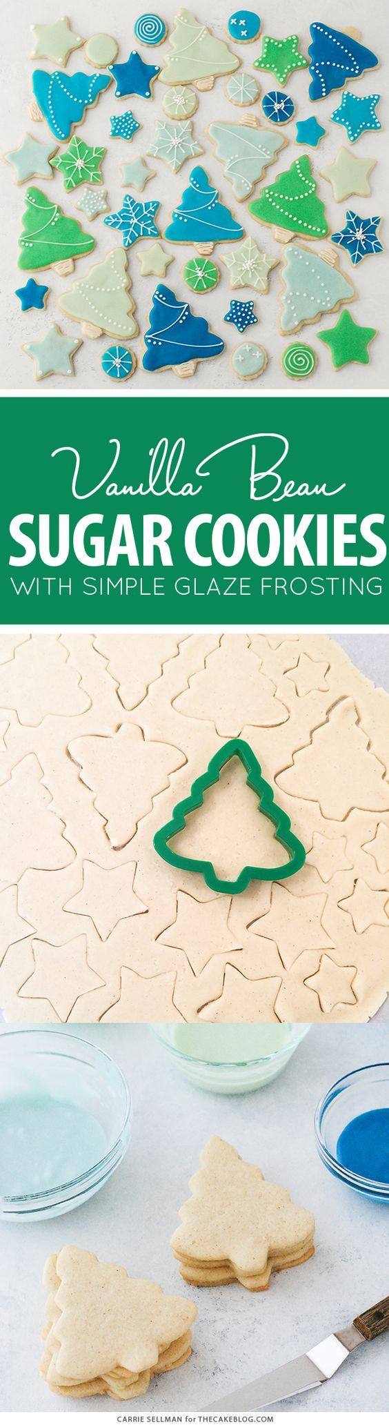 Decorated Sugar Cookies - vanilla bean sugar cookies with a simple glaze icing for easy yet thoughtful gift giving   by Carrie Sellman for The Cake Blog   AD @BobsRedMill #Bakesgiving