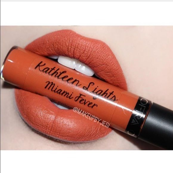 Ofra Longlasting Liquid Lipstick in Miami Fever Kathleen Light's collaboration with idea cosmetics created the orange shade of Miami fever. I accidentally ordered two so this box has been unopened and lipstick is unswatched considering I already have one for my own use. Ofra Makeup Lipstick