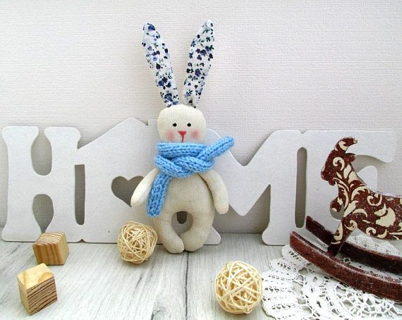 Little rabbit  Textile toy  Kids toy Stuffed rabbit  Gift for