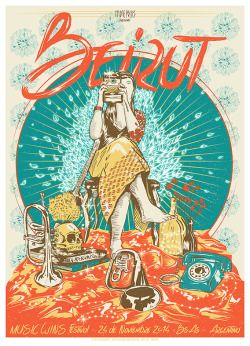 En Septiembre del 2014, Santiago Pozzi de Imprenta Chimango de Buenos Aires, junto a grupo de ilustradores y amantes de los posters, para generar un gig poster por cada banda que participaria en el festival Music Wins en Buenos Aires, Argentina,...