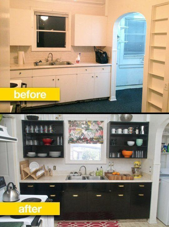 Kitchen Before & After: A Rental Kitchen Gets a Glam Makeover More