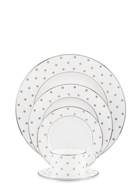 the prettiest gold dot plates from @Kate Mazur spade new york