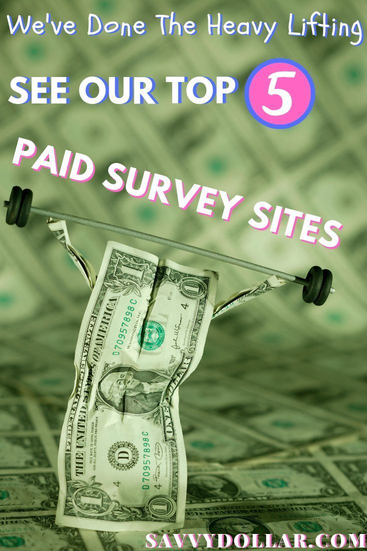 Top 5 Sites To Take Paid Online Surveys For Money Money Online