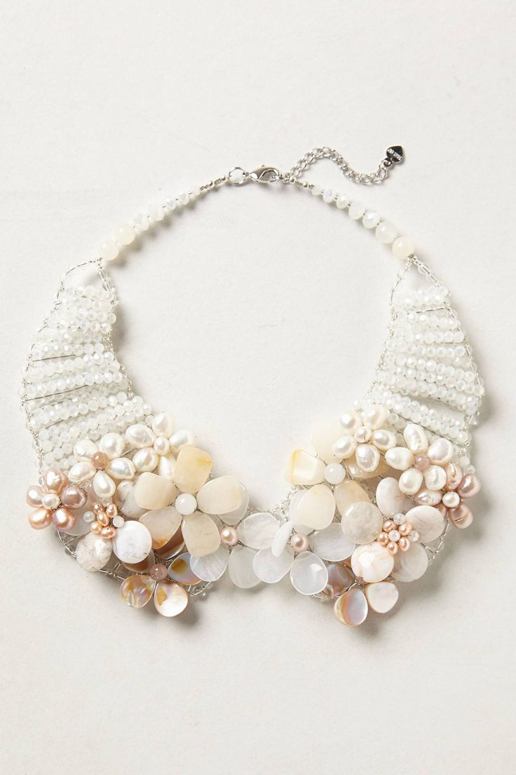 Pearled Bouquet Collar Necklace :: Effortless Anthropologie