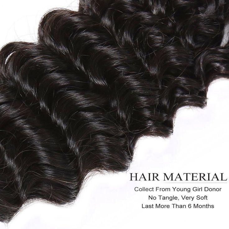 3pcs/Lot Deep Wave Bundles Deals 100% Human Remy Hair Weft