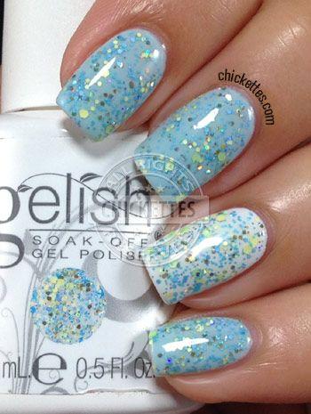 Gelish Trends - A Delicate Splatter - Spring 2014