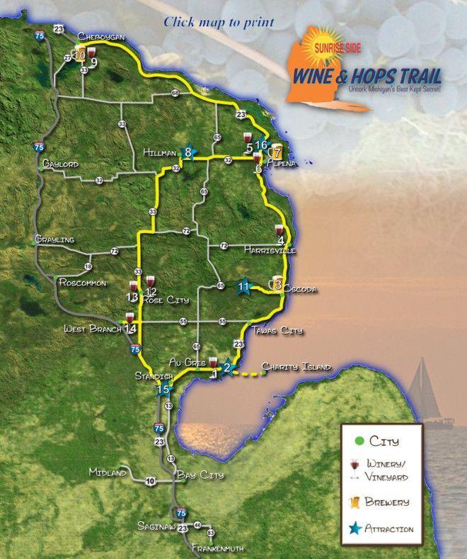 Michigan Wine u0026 Hops Trail 100 best