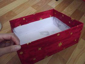 Авоська рукоделок : Коробка,обтянутая тканью.Мастер класс.