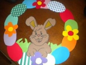Easter Wreath Craft Idea For Kids