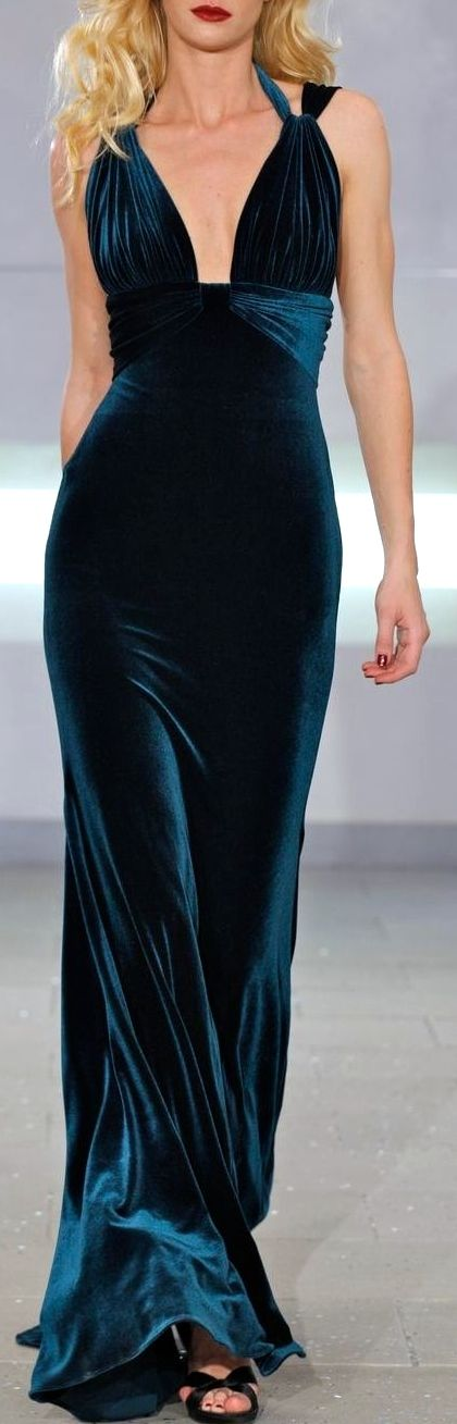 Richard Tyler #Velvet long dress #Luxurydotcom