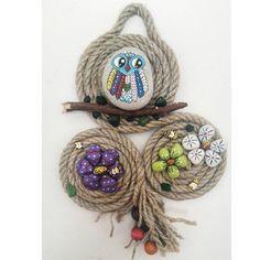 Baykuş çiçek konsept taş tasarım pano #tas #tasarim #pano #baykus #elemegi #hediyelik #hediye #nealsam #cicek #elboyaması