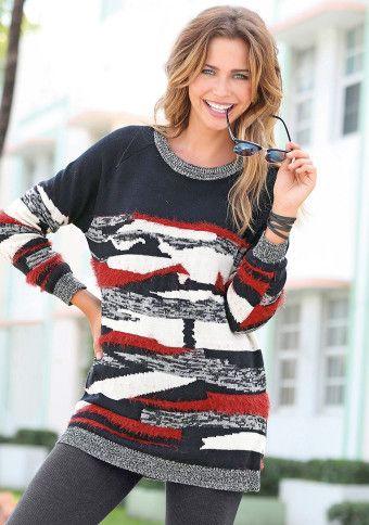 Multibarevný pulovr #ModinoCZ