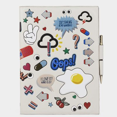 Stickered-Up A4 Two-Way Journal